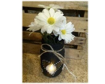 Mason Jar Vase & Flameless Candle