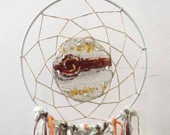 Fused Glass Dream Catcher