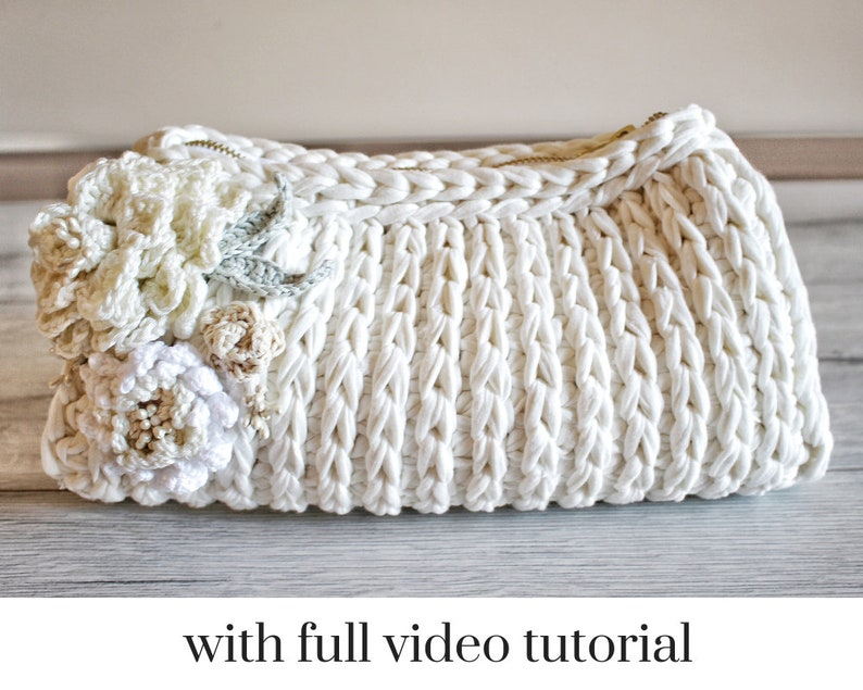 Small Bag Pattern Clutch Tutorial Crochet Bag Pattern Etsy