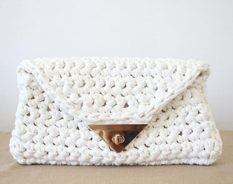 516d8fc76e Foldover clutch Pattern Crochet Bag Pattern Small Bag