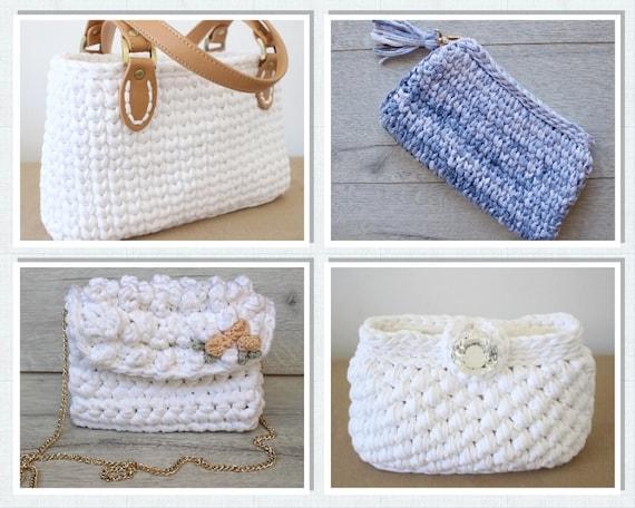 Purse Pattern Bundle Small Bag Pattern Crochet Bag Pattern Etsy