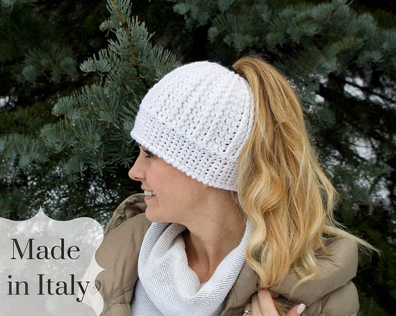 Beanie with Ponytail Hole Running Beanie Gift For Her Mom  d3831e6e5a9