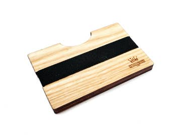 Ash Handmade Wood Wallet / Slim wooden wallet / credit card wallet / slim GenteelWood wallet / Minimalistic wallet /Premium luxury wood