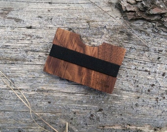 Walnut Handmade Wood Wallet / Slim wooden wallet / credit card wallet / slim GenteelWood wallet / Minimalistic wallet /Premium luxury wood