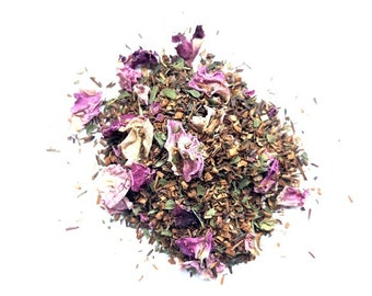 Organic Loose Leaf Tea: Rose City Rooibos, Handcrafted in Small Batches
