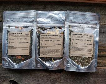 Pick three organic loose leaf teas gift set
