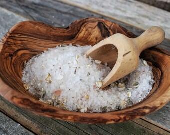 Tea Infused Bath Salts: Beach Getaway - Organic, small batch crafted, tea infused artisan luxury beach bath salts