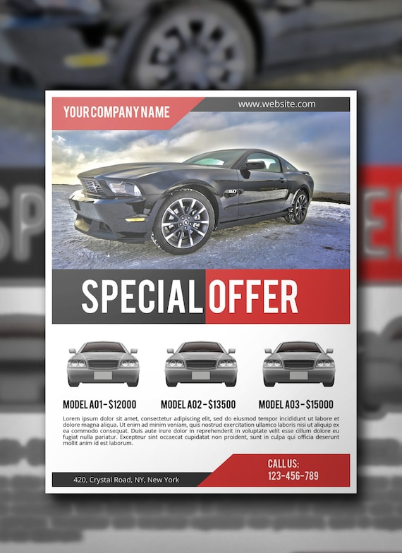 Car Sale Flyer PSD Template Commercial Flyer Template | Etsy