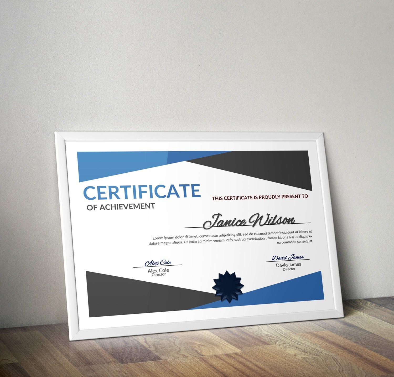 Mehrzweck-Zertifikat Wort DIY-Zertifikat Vorlage | Etsy