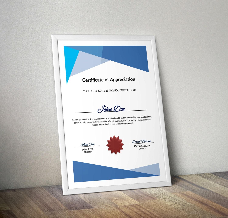 Mehrzweck-Zertifikat-Word-Vorlage DIY-Zertifikat-Vorlage