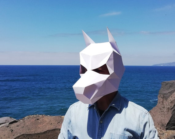Easy Origami Animals Kids Can do at Home: How to Make a Wolf Face ... | 453x570