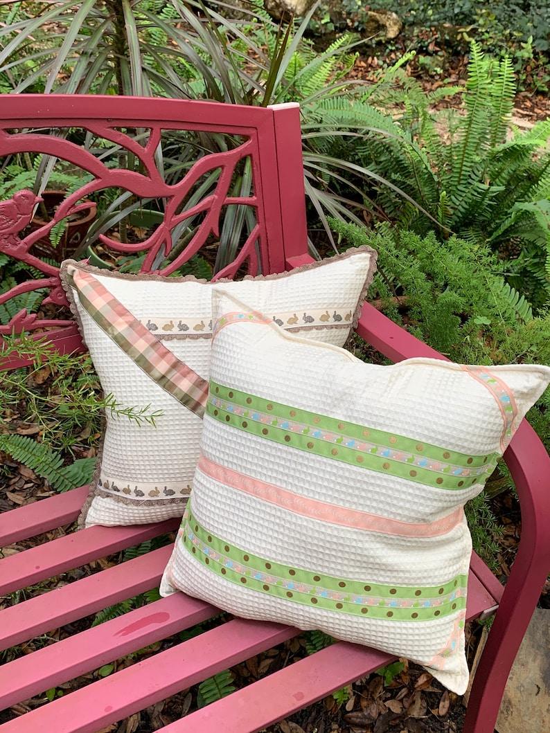 Easter Decor Easter Pillow Bunny Pillow Nursery Decor image 0
