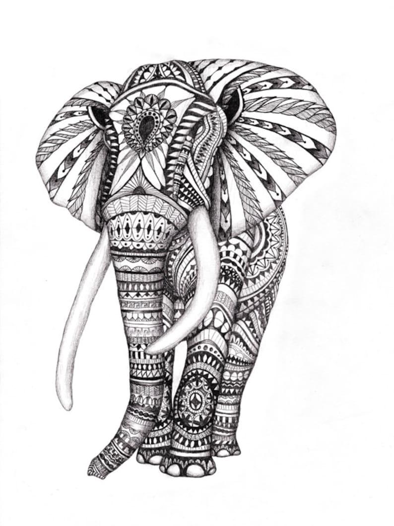 этой картинки индийского слона тату селе есть