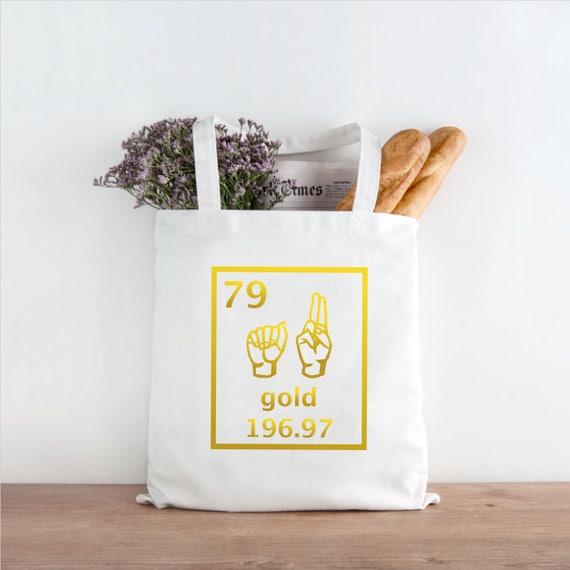 Asl periodic table elements tote bag reusable shopping bag etsy image 0 urtaz Images
