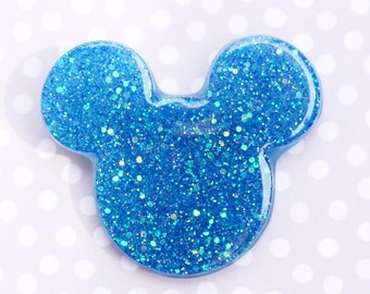 Mouse Brooch - Mermaid Tail Blue Mickey Brooch