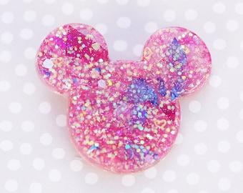 Mouse Brooch - Hot Pink Mickey Brooch