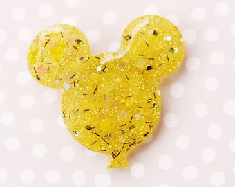 Mickey Balloon Brooch - Sunflower Yellow Mickey Brooch