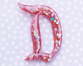 Disney D Brooch  - The Big D Disney D Pin - Retro Magenta Dapper Day Disney D Brooch - Jumbo Pink Disney D Brooch
