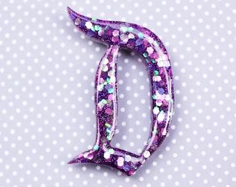 Purple Disney D Brooch