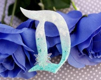 Elsa Disney D Brooch  - Big D Disney D Pin -  Frozen Elsa Disney Brooch