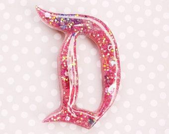 Disney D Brooch  - Hot Pink Disney D Brooch