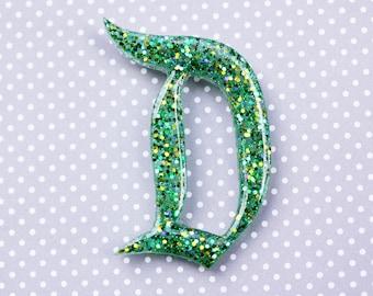 Green Disney D Brooch