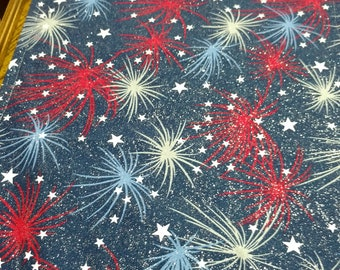 Place mats with a Fireworks display