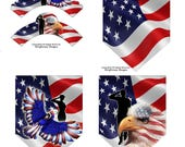 Patriotic Cupcake Wrappers & Party Banner-4pc Set-Instant Download-Military Party, Veterans Day Decorations, Memorial Day Party Decorations