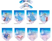 Disneys Cinderella Cupcake Wrappers & Party Banner 9pc Set-Baby Shower Decorations-Instant Download-Princess Birthday Party Cupcake Wrappers