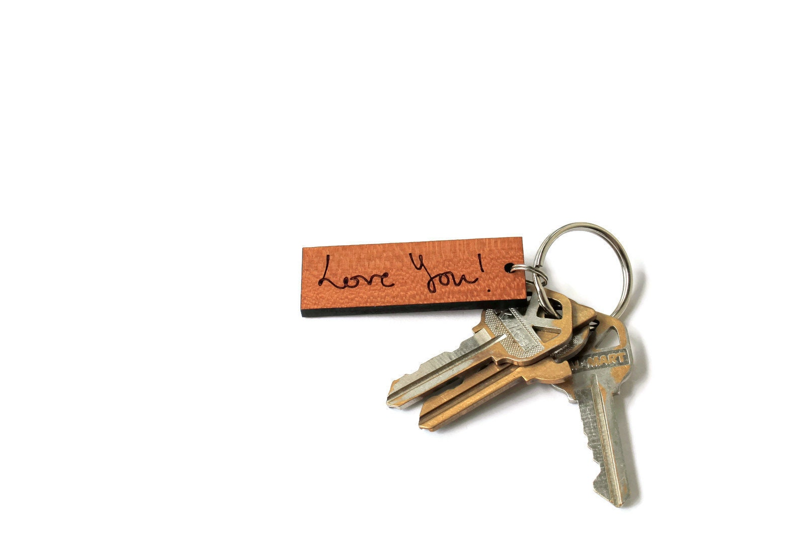 78c8fecf056b9 Personalized handwriting keychain made in the USA