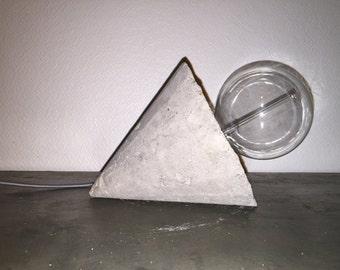 Molded concrete Cone lamp