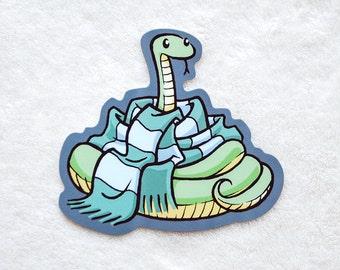 Hogwarts Sticker - cute Slytherin snake