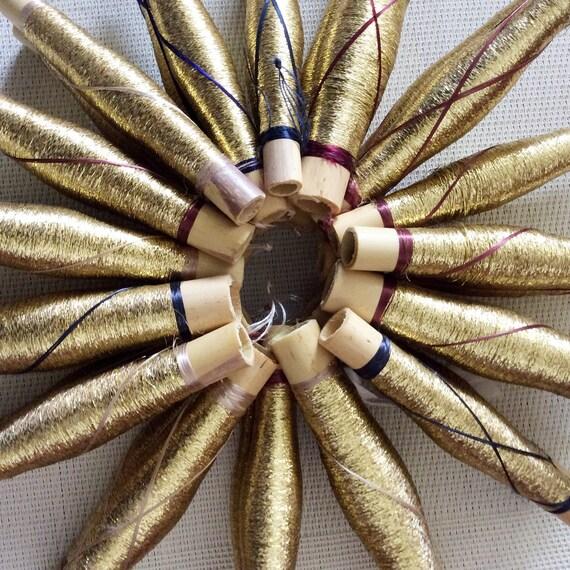 Hilo de bordar metálico 60M Carretes Brillante Brillante mano Cross Stitch De Costura