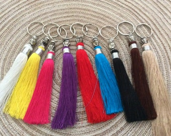 Set of 5 Moroccan vegetable silk, charms, decorative tassels