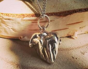 Unique handmade silver necklace