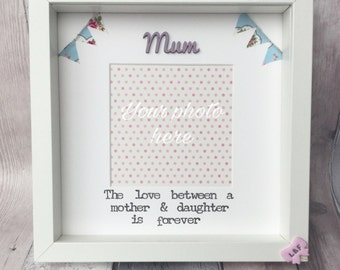 Mother Daughter Photo Frame Gift Mothers Day Keepsake For Mum Birthday Present Quotes
