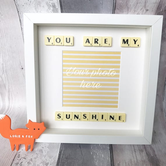 You Are My Sunshine Quote Frame Valentines Gift Anniversary Etsy