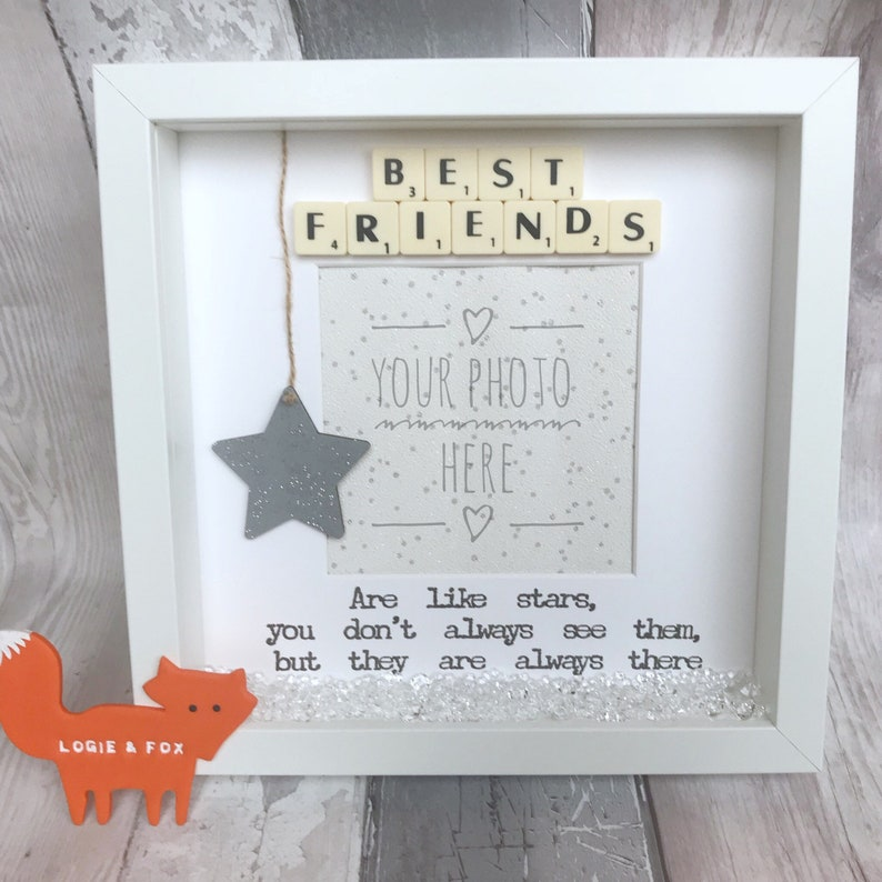 Best Friends Are Like Stars Handmade Scrabble