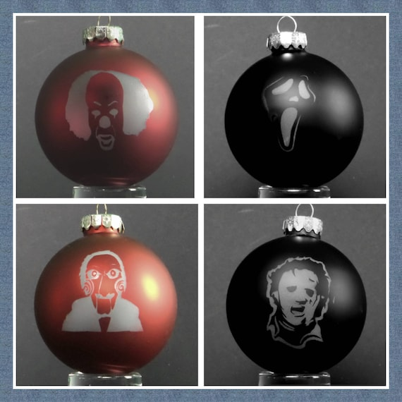 Horror Christmas Ornaments.Icon Horror Christmas Ornaments Round 2 Leatherface Pennywise Ghostface And Billy