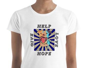 Apollo Give Love Help Hope Women's Short Sleeve Anvil T-Shirt