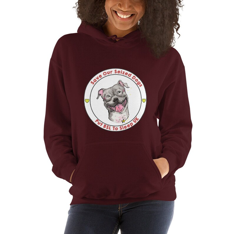 Putting BSL To Sleep Unisex Heavyweight Hoodie Maroon