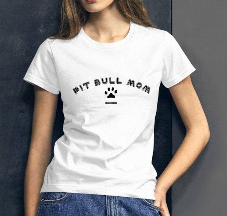 Pit Bull Mom Women's Short Sleeve T-shirt White