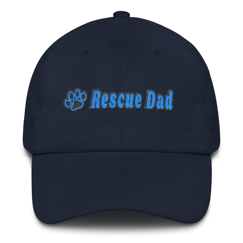 Rescue Dad Embroidered Premium Chino Cap by Yuupong Hats Navy