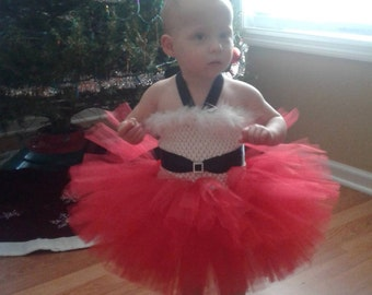 f26bd930fe2c Infant~Baby Santa Tutu Dress~Lined Top~ Christmas Tutu~ Holiday Tutu~ Size:  3-6months~ Made and Ready to Go!