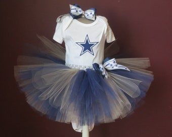 2a990f9d9 Infant Baby Toddler Dallas Cowboys Embroidered Tutu Set Cowboys Tutu Bow Dallas  Cowboys Embroidered Bodysuit T-Shirt Can be made in any size