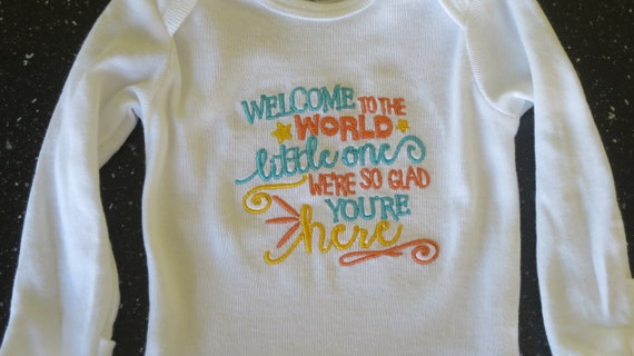 4ff6902a54b Baby Embroidered Onesie Infant Embroidered Onesie