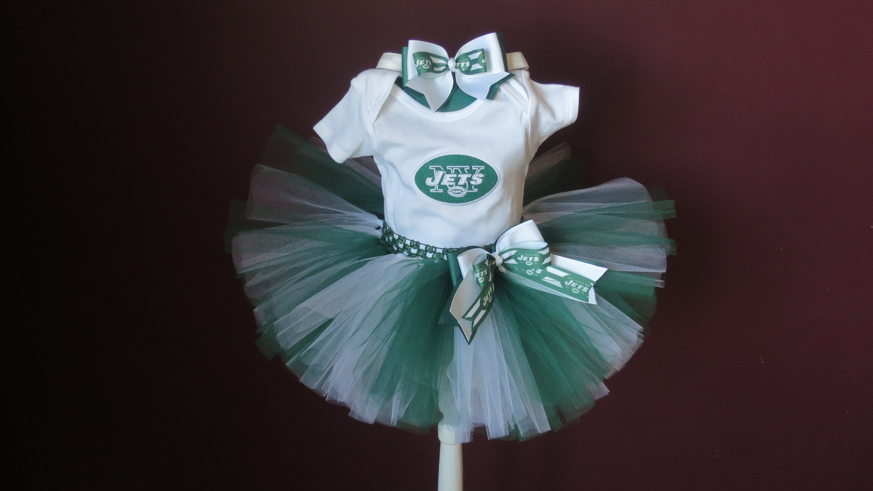 bc2ab355de9 Baby Toddler Inspired New York Jets Embroidery Tutu Set Jets