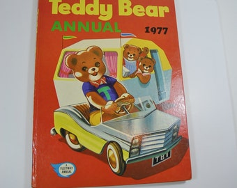 Vintage Teddy Bear Annual 1977. Retro Children's Book,