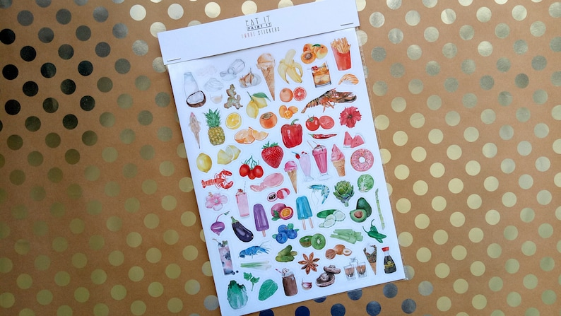 Stickers Ombre Aesthetic Foods includes 71 Stickers of image 0