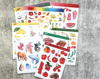 Seconds Stickers Set of Small and Medium sized sheets selling for half price due to minor imperfections